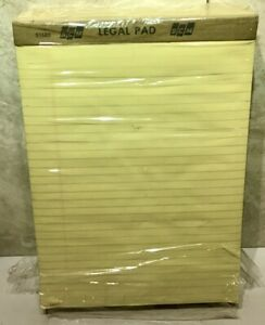 12 Scm 51683 Legal Pads Yellow 8 1 2 X 11 3 4 50 Sheets Pad New Sealed Open