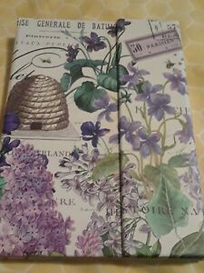 Michel Design Works Large Sticky Note Folio In Lilac And Violets new