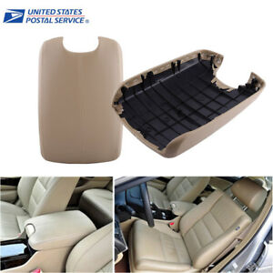 Beige Fit 08 12 Honda Accord Model Arm Rest Center Console Lid Cover With Base