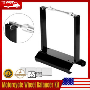 Black Aluminum Motorcycle Wheel Balancer Balancing Stand Maintenance Rack