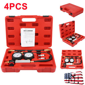 Cylinder Leak Tester Detector Petrol Engine Compression Leakage Leakdown Kit Set