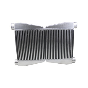 Cxracing Dual Core Twin Turbo Intercooler 3 5 Thickness 2 5 Inlet
