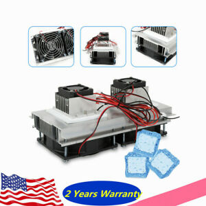 12v Thermoelectric Peltier Cooler 2 chip Semiconductor Refrigeration Air Cooling