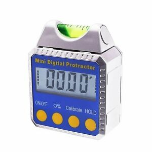 0 360 Electronic Digital Angle Finder Gauge Meter Magnetic Base W Spirit Level