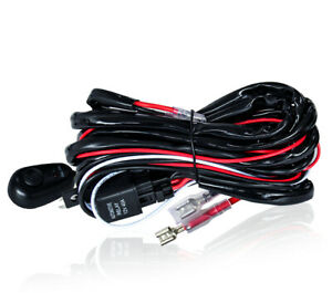 Wiring Harness Kit 2 Lead Rock Switch Relay Led Work Light Bar Pods 12v Car Boat