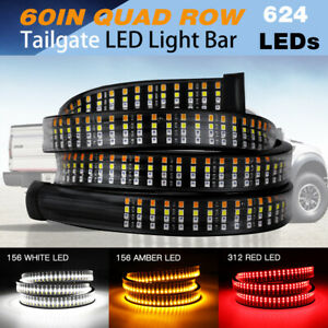 60 4 row Tailgate Led Strip Light Bar Reverse Brake Turn Signal Truck Pickup