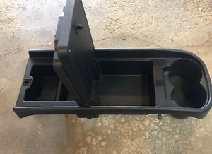 08 13 Toyota Highlander Rear Lower Console Box Tray Cup Holder Cupholder Black