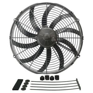 Derale 16116 16 High Output Curved Blade Electric Puller Fan New