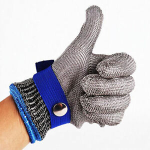 Safety Cut Proof Stab Resistant Stainless Steel Gloves Metal Mesh Butcher M xxl
