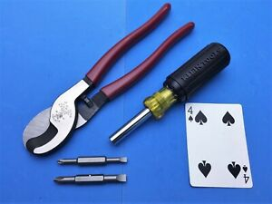 New Klein 9 Cable Cutters Klein Reversible 5 In 1 Screwdriver New Nos Set