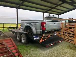 New 2020 Ford Dually Silver Truck Bed