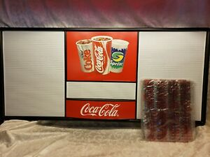 Coca Cola Menu Board Sign w/ Letters & Numbers - Vintage 1990's New Old Stock