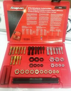 Snap on Tools Rtd48 48 Pieces Master Rethreading Tap And Die Set Threading Tool