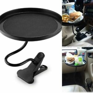 Cars Food Tray Folding Dining Table Drink Back Seat Holder With Clamp Bracket