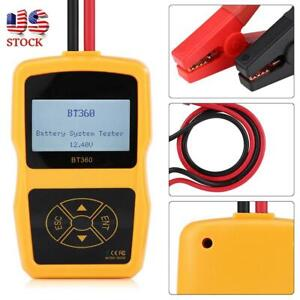 12v Bt 360 Automotive Load Battery System Tester Multi language Digital Analyzer
