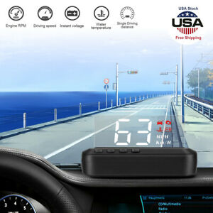 Hud Car Truck Head Up Display Obd Speedometer Warning System Dashboard Projector