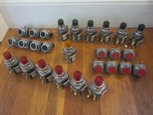 Siemens Furnas Push Button Switch Lot X27 Black Red Green Orange 52pa8 52pa6ena
