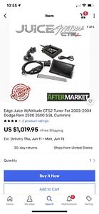 Edge Juice With Attitude Cts2 Monitor 31502 For 03 04 Dodge 5 9l Cummins Diesel