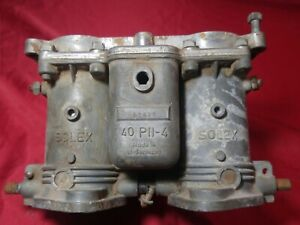 Porsche 356 912 Solex 40 Pii 4 2bbl Carburetor Stamp 27813 For Parts Or Repair