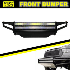 For 2002 2007 Dodge Ram 1500 Off Road Front Bumper W 2x38 Rigid Led Light Bars