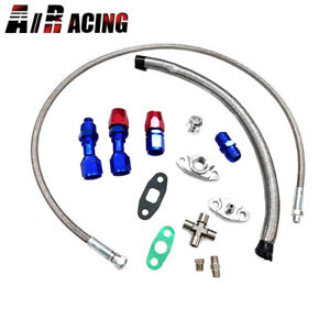 Turbo Charger Oil Drain Return Feed Line T3 T4 T04e T60 T61 T70 Complete