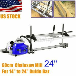 Insma Fit 14 24 Chainsaw Guide Bar Chain Saw Mill Planking Lumber Cutting