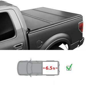 6 5ft Bed For 2007 2020 Toyota Tundra Hard Tri fold Solid Tonneau Cover