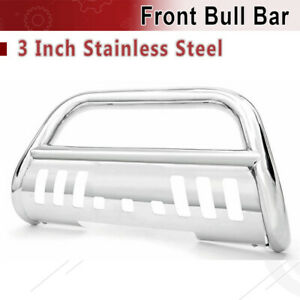 For 2009 2019 Dodge Ram 1500 3 Front Bull Bar Bumper With Skid Plate Brush Push