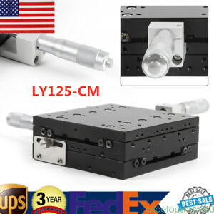 125x125mm Xy Axis Stage Linear Stage Trimming Platform Alu Alloy Slide Table