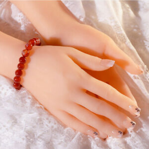 Fake Female Left Right Pair Hand Silicone Lifelike Finger Model Jewelry Display