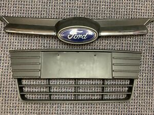 Oem 2012 2014 Ford Focus Front Upper And Lower Center Grill With Emblem