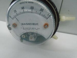 Vintage Dwyer Magnehelic Inches Of Water Zero Set Meter Pressure Gauge