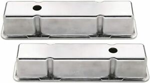Mr Gasket Engine Valve Cover Set 6854 Tall Polished Aluminum For Chevy Sbc 58 86