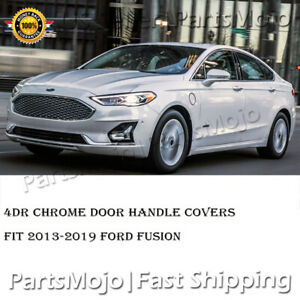 4 Dr Chrome Door Handle Cover For Ford Fusion 2013 2014 2015 2016 2017 2018 2019