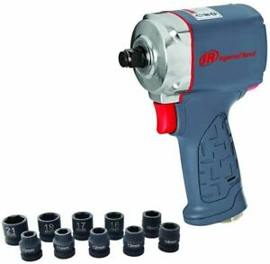 Ingersoll Rand 35maxks 1 2 Ultra Compact Impact Wrench Kit With Sockets