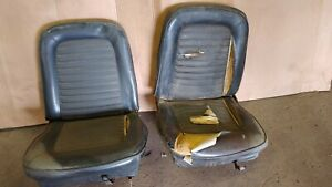 1965 1966 Ford Mustang Bucket Seats W Tracks Left And Right Driver Passenger