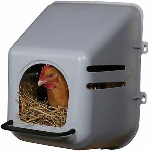 Large Wall Mount Egg Nesting Nest Box With Perch Chicken Coop Hen House Poultry