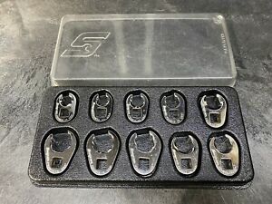 Snap On 10 Piece Metric Flare Nut Crowfoot Wrench Set Flank Drive 210frhma