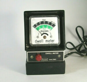 Vintage Dwell Meter 244 2185 6 And 8 Cylinder Sold By Sears