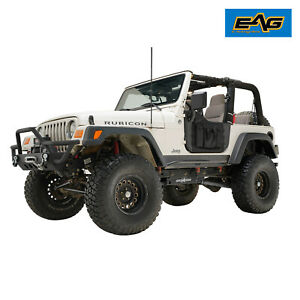 Eag Pocket Replacement Tubular Door With Mirror Fit For 97 06 Jeep Wrangler Tj