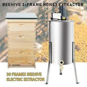 30 Frames Bee Hive Kits Foundations Frames Cover And 3 Frame Honey Extractor