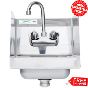 Nsf Wall Mount Hand Wash Sink Stainless Steel Commercial Restaurant 12 X 16