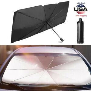 Auto Car Front Rear Window Foldable Visor Sun Shade Windshield Cover Umbrella Us