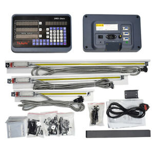 3axis Digital Readout Dro Display Linear Scale Encoder Mill Kit 450 500 900mm Us