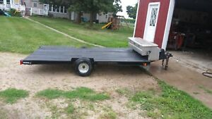 Flatbed Trailer With Truck Tool Box
