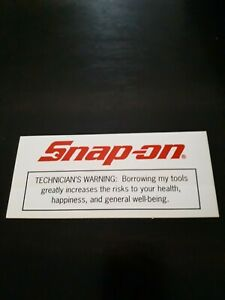 Snapon Tools Official Technician Warning Snap Logo Decal Sticker New