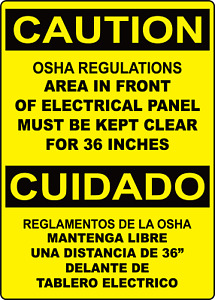 Area In Front Of Panel Must Be Kept Clean Engl span Adhesive Vinyl Sign Deca