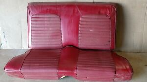 1965 1966 Ford Mustang Red Rear Seat Coupe Nice Condition Correct Material