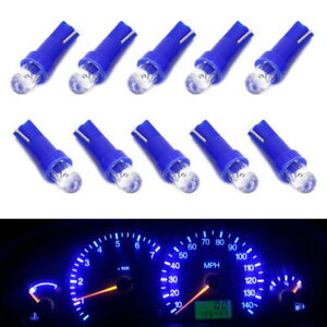 10x Blue Projector Head 37 73 74 79 T5 Gauge Cluster Background Light Led Bulbs
