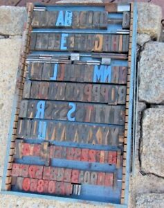 Large Antique Vintage Wood Letterpress Print Type Block A z Letters s